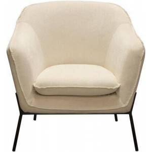 """Diamond Sofa Status Collection STATUSCHCR 34"""" Accent Chair with Flared Arms  Piped Stitching  Black Powder Coated Metal Legs and Fabric Upholstery in"""