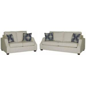 Progressive Furniture Hadley U2051-SL 2-Piece Living Room Set with Stationary Sofa and Loveseat in