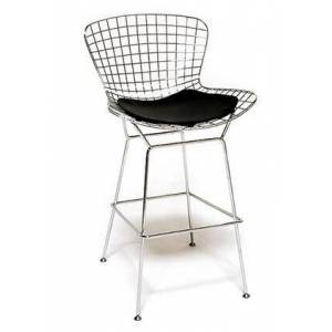 Fine Mod Imports FMI2126-black Wire Counter Height Chair