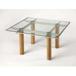 Butler Cirrus Collection 3782140 Coffee Table with Modern Style  Square Shape and Solid Wood in Butler Loft