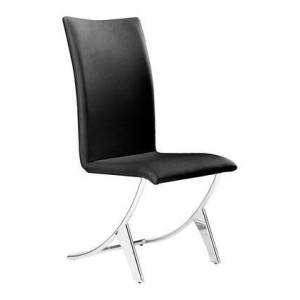 """Zuo 102101 Delfin 39"""" Dining Chair (Set of 2) with Stainless Steel Legs and Leatherette Upholstery in"""