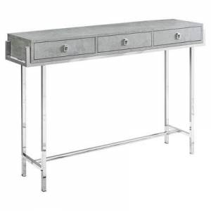"Monarch I 3298 Accent Table - 48""L / Grey Cement / Chrome"
