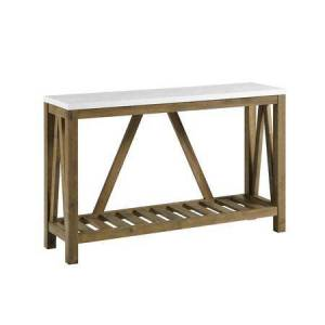 """Walker Edison AF52AFTMNW 52"""" A-Frame Rustic Entry Console Table in"""