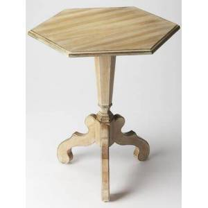 Butler Corbin Collection 1154247 Accent Table with Traditional Style  Hexagonal Shape  Medium Density Fiberboard (MDF) and Cherry Veneer Material in