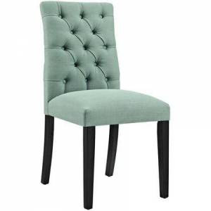 Modway Duchess Collection EEI-2231-LAG Side Chair with Rubberwood Tapered Legs  Dense Foam Padding  Non-Marking Foot Caps and Fabric Polyester Upholstery in