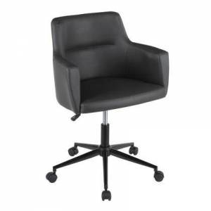 LumiSource OC-ANDRW PUGY Andrew Contemporary Office Chair in Grey Faux