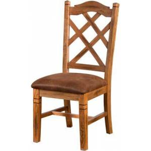 Sunny Designs 1415RO2 Sedona Double Crossback Chair with Cushion Seat  in Rustic