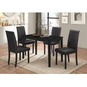 Myco Furniture Drake Collection DR100-BK-T-S 3-Piece Dining Room Set with Table and 2 Set of Side Chairs in