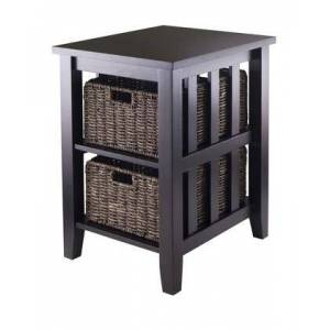 Winsome 92312 Morris Side With 2 Foldable Baskets