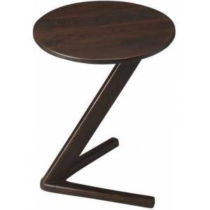 Butler Zena Collection 1184260 Accent Table with Modern Style  Round Shape and Acacia Wood Solids in Modern Expressions