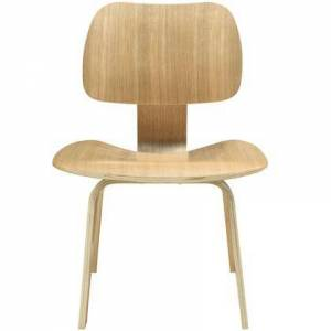 Modway Fathom Collection EEI-620-NAT Dining Side Chair with Mid-Century Modern Style  Tapered Legs  Five Layered Construction and Plywood Oak Veneer