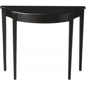 Butler Chester Collection 4116111 Console Table with Transitional Style  Demilune Shape and Walnut Veneer in Black Licorice