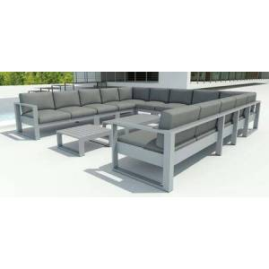 Anderson Lucca SET-5003 13-Piece Set with 1 Right Loveseat  1 Left Loveseat  7 Center Chairs  2 Corner Chairs  1 Coffee Table and 1 Side