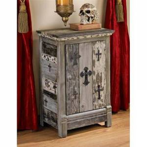 Design Toscano MH10216 Gothic Sanctuary Side Table
