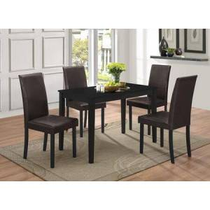 Myco Furniture Drake Collection DR100-BR-T-S 3-Piece Dining Room Set with Table and 2 Set of Side Chairs in Dark