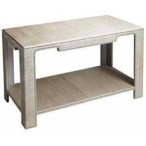 Butler Ricci Collection 1865140 Console Table with Modern Style  Rectangular Shape  Medium Density Fiberboard (MDF)  Solid Wood and Leather Uphlostery in