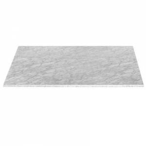 Essentials for Living G.MRBL-DT.WHT Carrera Collection 75X42 Rectangular Dining Top In