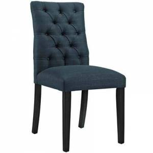 Modway Duchess Collection EEI-2231-AZU Side Chair with Rubberwood Tapered Legs  Dense Foam Padding  Non-Marking Foot Caps and Fabric Polyester Upholstery in