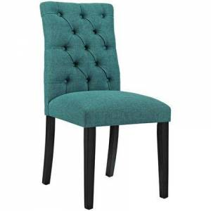 Modway Duchess Collection EEI-2231-TEA Side Chair with Rubberwood Tapered Legs  Dense Foam Padding  Non-Marking Foot Caps and Fabric Polyester Upholstery in