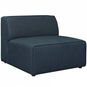 """Modway Mingle Collection EEI-2724-BLU 37"""" Armless Chair with Dense Foam Padded Cushion  Contemporary Style  Low Backrest and Polyester Upholstery in Blue"""