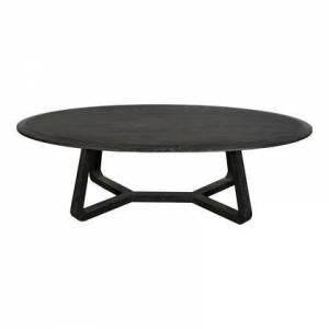 Moe's Home Collection Nathan Collection VL-1044-02 Coffee Table with Oak Veneer in Black