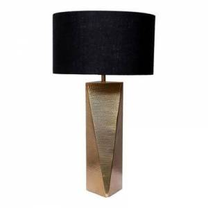 Moes Home Collection Marin Collection OD-1018-32 Lamp with Linen Shade in Gold