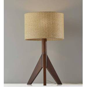 "HomeRoots 372866 Homeroots 13"" X 13"" X 23.5"" Wood Table Lamp in"