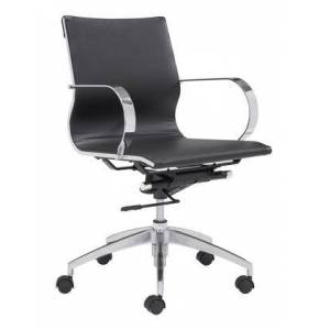 Zuo 100374 Glider Low Back Office Chair