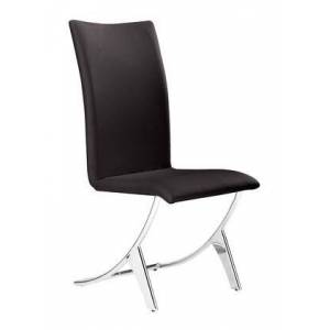 """Zuo 102103 Delfin 39"""" Dining Chair (Set of 2) with Stainless Steel Legs and Leatherette Upholstery in"""
