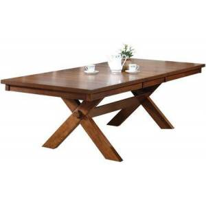 """Acme Furniture Appollo Collection 70000 72"""" - 90"""" Dining Table with Butterfly Extension Leaf  Trestle Base  X-Style Legs and Rubberwood Construction in Walnut"""