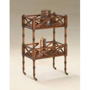 Butler Foster Collection 1565024 Mobile Server with Traditional Style  Rectangular Shape  Medium Density Fiberboard (MDF) and Rubberwood Solids in