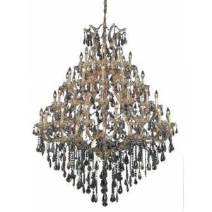Elegant Lighting 2801G46G-GT/SS 2801 Maria Theresa Collection Large Hanging Fixture D46in H62in Lt: 48+1 Gold Finish (Swarovski Strass/Elements Golden