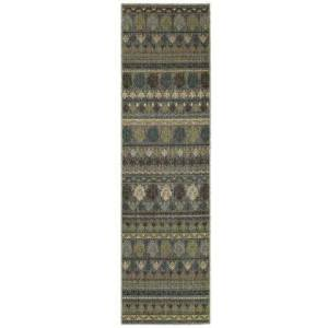 """Tommy Bahama Home V591E2080285ST Runner 2' 7"""" X  9' 4"""" Rug Pad with Geometric Pattern and Machine Woven"""