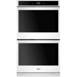 """Whirlpool WOD51EC7HW 27"""" Smart Double Wall Ovens with 8.6 cu. ft. Capacity  Touchscreen Control  Scan-to-Cook Technology and Sabbath Mode in in"""
