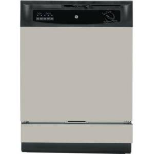 GE GSD3340KSA Built-In Dishwasher with 5-level wash system  Hot Start option  Insulation blanket  Up to 12-place setting capacity racking and Hard food