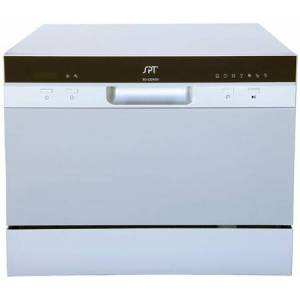 """Sunpentown SD-2224DS 22"""" Countertop Dishwasher with Delay Start  7 Wash Cycles  6 Place Settings  and Automatic Detergent Dispenser  in"""