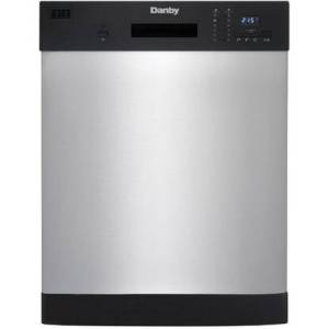 "Danby DDW2404EBSS 24"" Built-In Dishwasher with 12 Place Setting Capacity  Energy Star Certified  Electronic Controls with Digital Display  Delay Start  6"