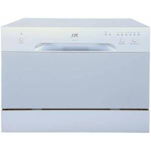 """Sunpentown SD-2213S 22"""" Countertop Dishwasher with 6 Wash Cycles  Rinse Aid Warning Indicator  and 6 Place Settings  in"""