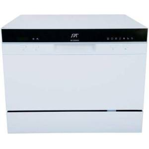 """Sunpentown SD-2224DW 22"""" Countertop Dishwasher with Delay Start  7 Wash Cycles  6 Place Settings  and Automatic Detergent Dispenser  in"""