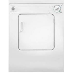 """Whirlpool LDR3822PQ 24"""" 3.4 cu. ft. Compact Electric Dryer with 3 Automatic Cycles  Gentle Heat System  AutoDry System  Moisture Monitoring  2 Temperature"""