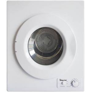 """Magic Chef MCSDRY1S 24"""" Compact Electric Dryer with 2.6 cu. ft. Capacity  Stainless Steel Drum  5 Dry Cycles and 2 Temperature Options in"""