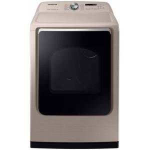 Samsung DVE54R7600C Electric Dryer with 7.4 cu. ft. Capacity  Steam Sanitize Sensor Dry  Vent Sensor and 12 Cycles in
