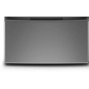"""Whirlpool WFP2715HC 16"""" Pedestal for Front Load Washer and Dryer with Storage  in Chrome"""
