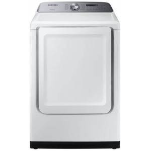 """Samsung DVE50R5200W 27"""" Front Load Electric Dryer with 7.4 cu. ft. Capacity  10 Drying Cycles  Sensor Dry and Smart Care in"""