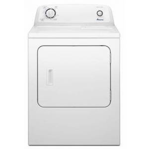 """Amana NED4655EW Top-Load 29"""" Electric Dryer with 6.5 cu. ft. Capacity  Automatic Dryness Control  11 Dryer Cycles  3 Temperature Settings  Reversible Door"""