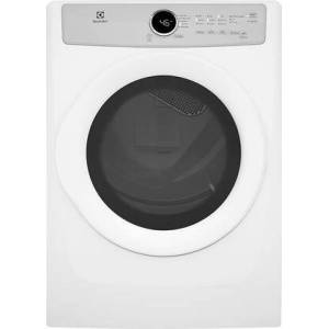"""Electrolux EFDE317TIW 27"""" Front Load Electric Dryer with 8 cu. ft. Capacity  5 Drying Cycles  3 Temperature Settings  Wrinkle Release  IQ-Touch Controls and 3"""