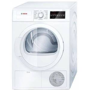 """Bosch WTG86400UC 300 Series 24"""" Compact Electric Condensation Dryer with 4 cu. ft. Galvalume Drum  Sensitive Drying System  15 Programs  Ventless Drying"""