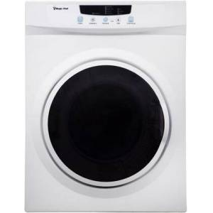 "Magic Chef MCSDRY35W 24"" Compact Electric Dryer with 3.5 cu. ft. Capacity  4 Dry Cycles  Dewrinkle Program  Child Lock and 3 Temperature Settings in"