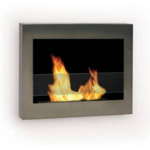 Anywhere Fireplace 90299 Indoor Wall Mount Eco-Friendly Fireplace In SoHo Stainless Steel