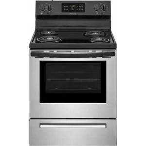 """Frigidaire FFEF3016VS 30"""" Freestanding Electric Range with 5.3 cu. ft. Capacity  Auto Shut-Off  Electronic Kitchen Timer  One-Touch Self Clean  Delay Clean"""